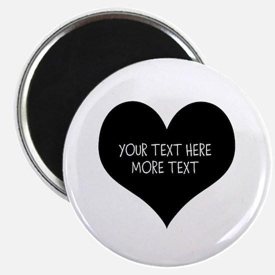 Black heart Magnets