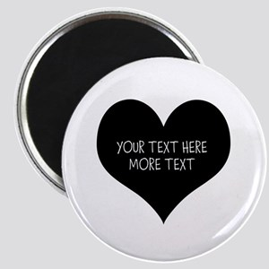 Black Heart Magnets For Wedding Bridesmaids