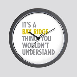 Bay Ridge Thing Wall Clock