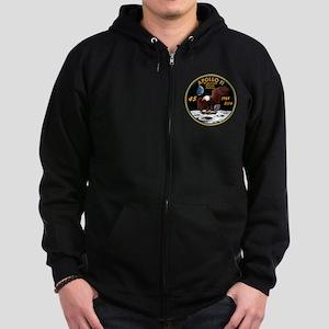 Apollo 11 45th Anniversary Zip Hoodie (dark)