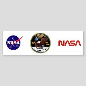 Apollo 11 45th Anniversary Sticker (Bumper)