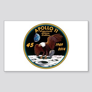 Apollo 11 45th Anniversary Sticker (Rectangle)