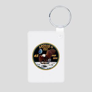 Apollo 11 45th Anniversary Aluminum Photo Keychain