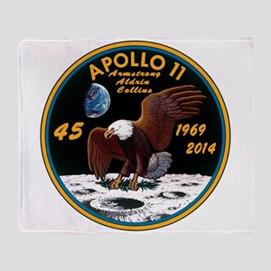 Apollo 11 45th Anniversary Throw Blanket