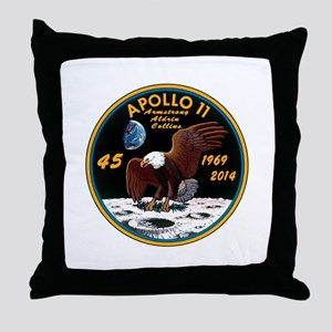 Apollo 11 45th Anniversary Throw Pillow