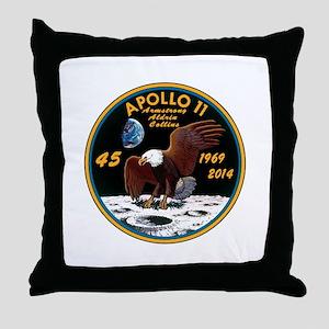 Apollo 11 45th Anniversary Throw Pillow