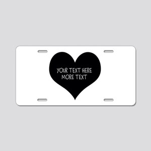 Just Married Black Heart Aluminum License Plate
