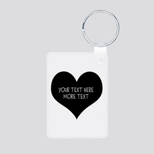 Black Heart Keychains For Newly Weds