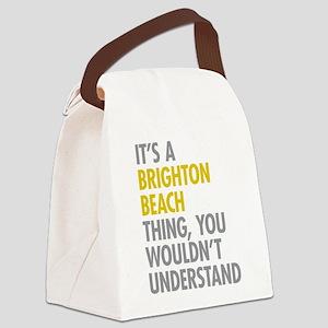 Brighton Beach Thing Canvas Lunch Bag