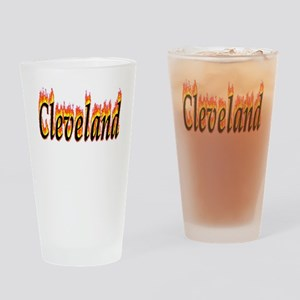 Cleveland Flame Drinking Glass