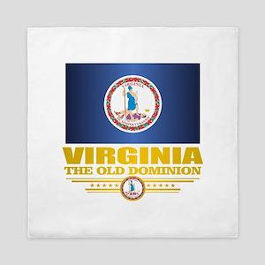 Virginia Flag (v15) Queen Duvet