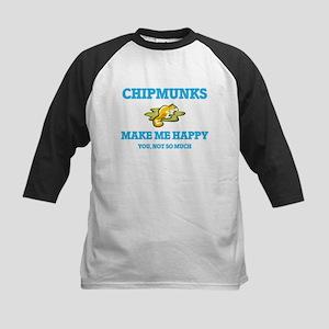 Chipmunks Make Me Happy Baseball Jersey
