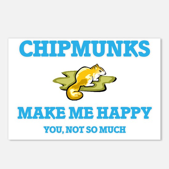 Chipmunks Make Me Happy Postcards (Package of 8)