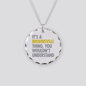 Brownsville Thing Necklace Circle Charm