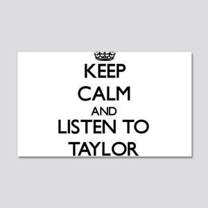 Keep Calm and Listen to Taylor Wall Decal