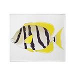 Convict Surgeonfish Throw Blanket