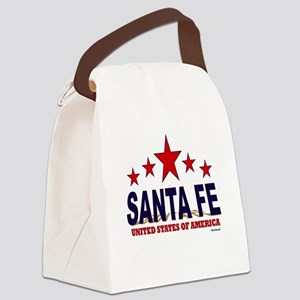 Santa Fe U.S.A. Canvas Lunch Bag
