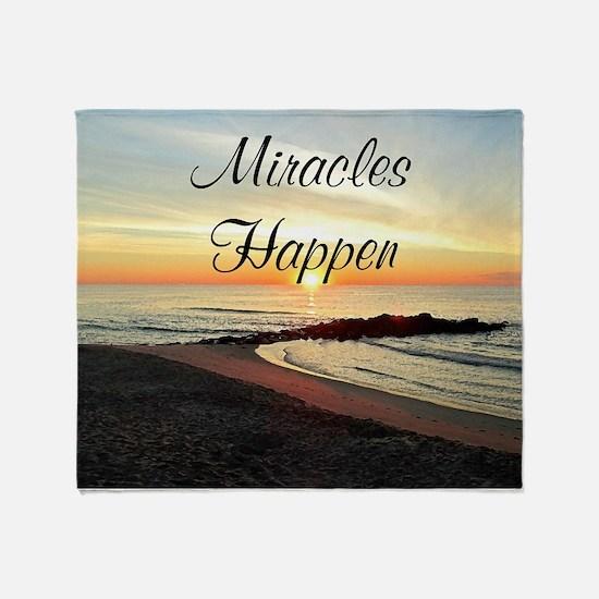 MIRACLES HAPPEN Throw Blanket