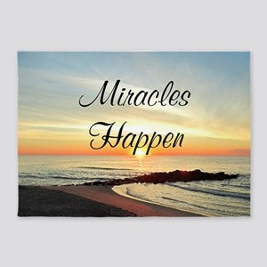 MIRACLES HAPPEN 5'x7'Area Rug