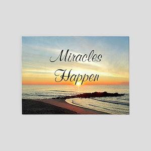 MIRACLES HAPPEN 5'x7'Area Rug