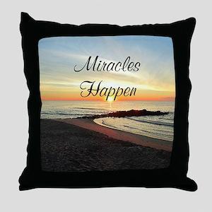 MIRACLES HAPPEN Throw Pillow