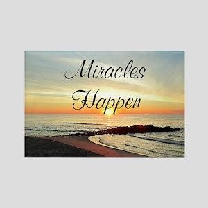 MIRACLES HAPPEN Rectangle Magnet