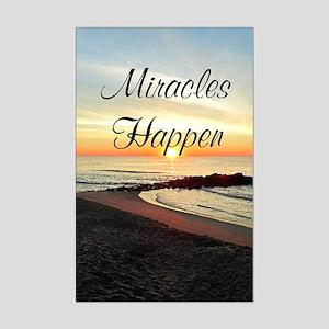 MIRACLES HAPPEN Mini Poster Print