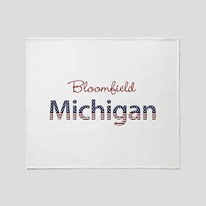 Custom Michigan Throw Blanket