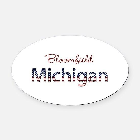 Custom Michigan Oval Car Magnet