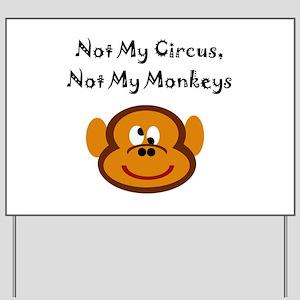 Monkeys Yard Sign