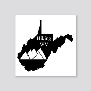 "Hiking West Virginia Square Sticker 3"" x 3"""