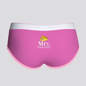 Mr and Mrs gold wedding rings Women's Boy Brief