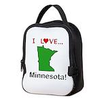 I Love Minnesota Neoprene Lunch Bag
