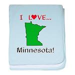 I Love Minnesota baby blanket