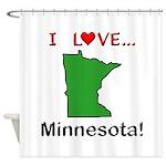 I Love Minnesota Shower Curtain