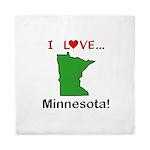 I Love Minnesota Queen Duvet