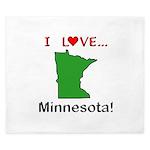 I Love Minnesota King Duvet