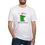 I Love Minnesota Fitted T-Shirt