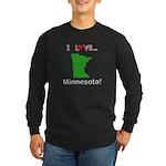 I Love Minnesota Long Sleeve Dark T-Shirt