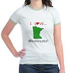 I Love Minnesota Jr. Ringer T-Shirt