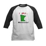 I Love Minnesota Kids Baseball Jersey