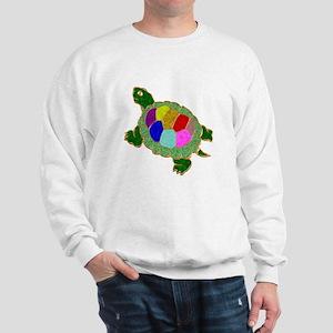 Jewelled Turtle Art Glass Sweatshirt