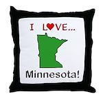 I Love Minnesota Throw Pillow
