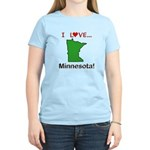 I Love Minnesota Women's Light T-Shirt