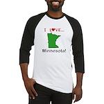 I Love Minnesota Baseball Jersey