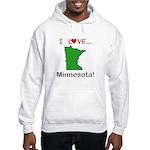 I Love Minnesota Hooded Sweatshirt