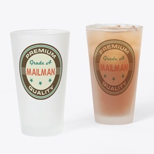 Mailman Vintage Drinking Glass