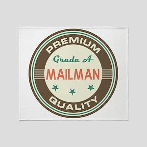 Mailman Vintage Throw Blanket