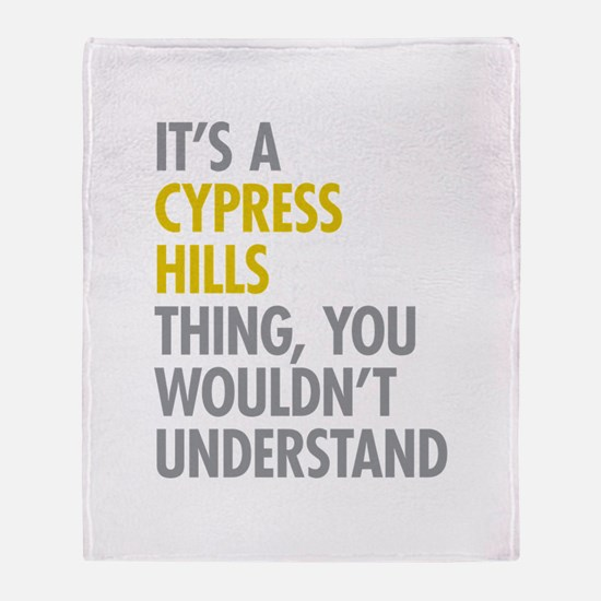 Cypress Hills Thing Throw Blanket