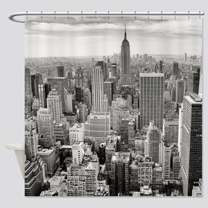 New York City Skyscrapers Shower Curtain